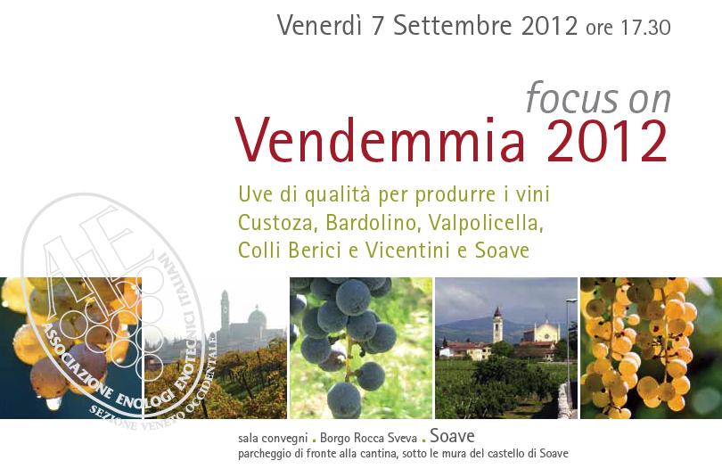 7 settembre: focus sulla vendemmia 2012