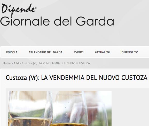 """Il """"nuovo"""" Custoza sul Giornale del Garda"""