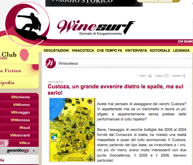 "Custoza ""d'antan"" su WineSurf"