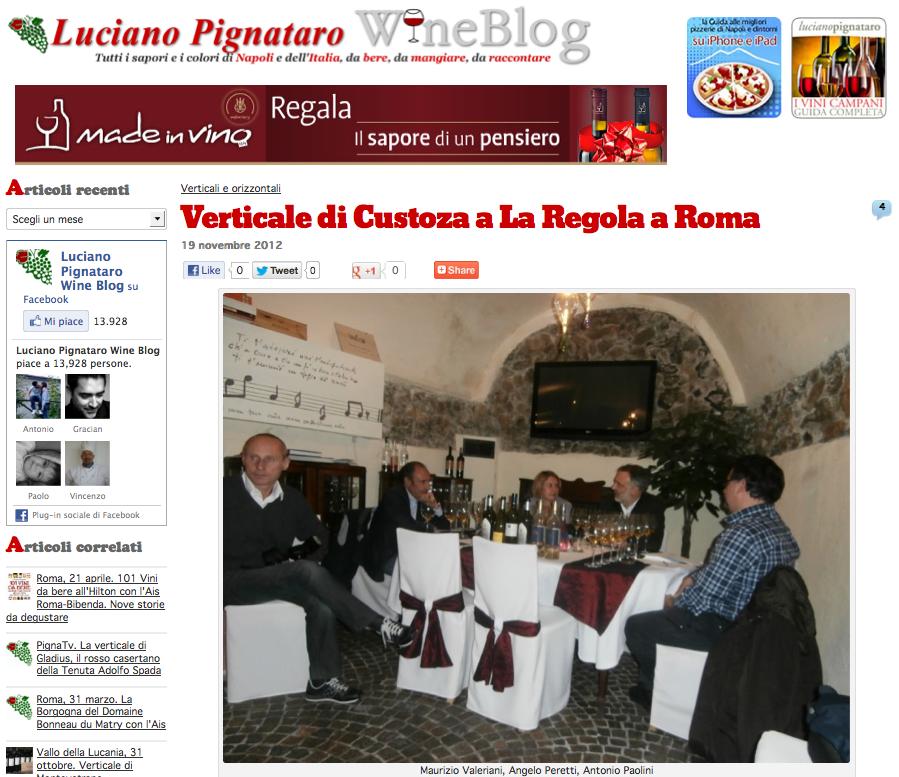 """Custoza """"d'antan"""" sul blog di Luciano Pignataro"""