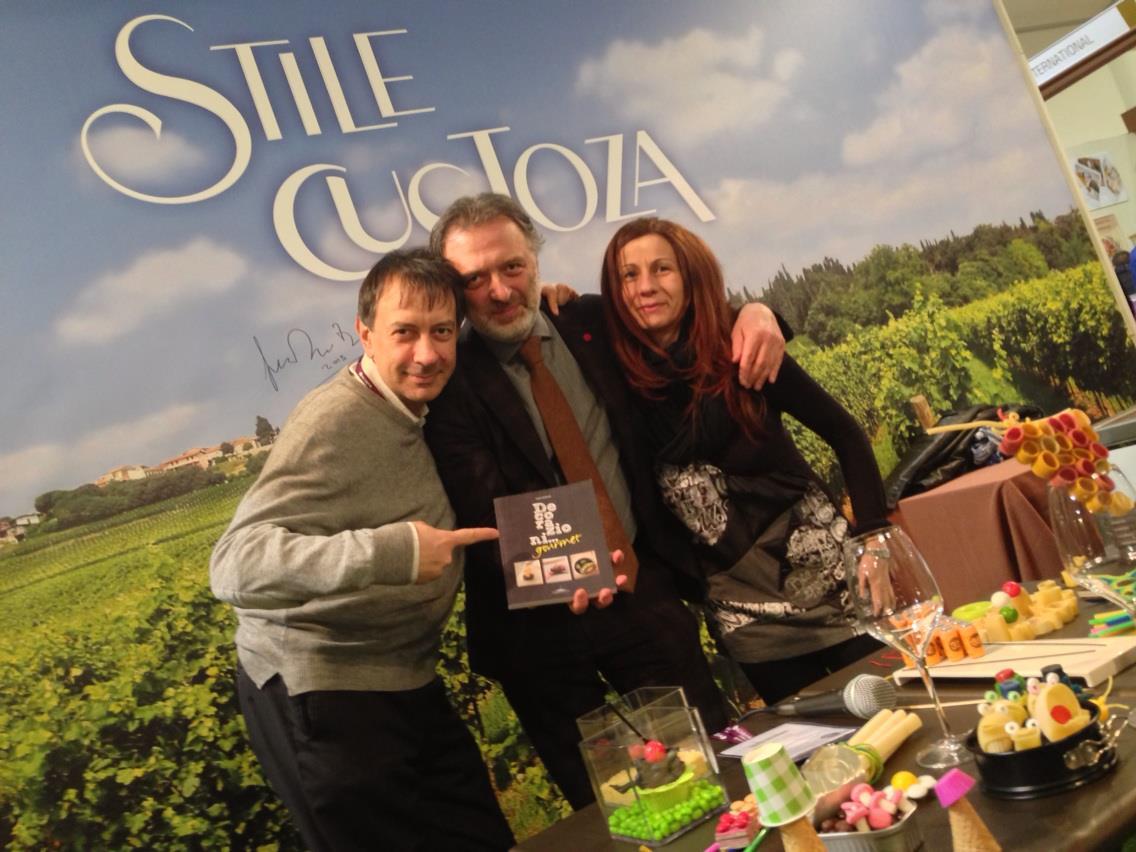 Cinzia Boggian e Carlo Vischi allo stand del Custoza