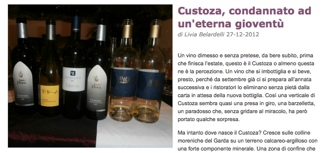 "I Custoza ""d'antan"" su Doctor Wine"